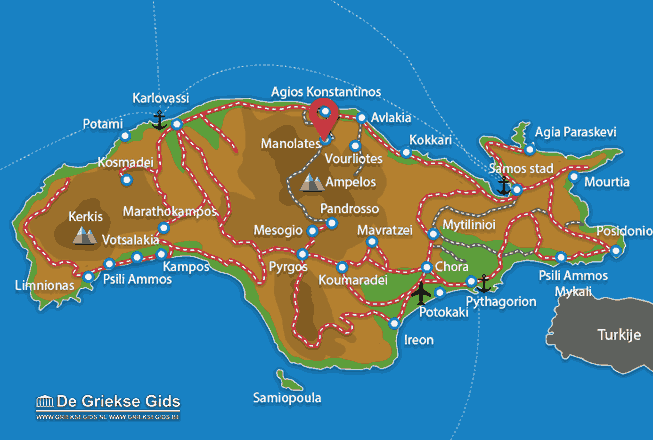 Map of Manolates