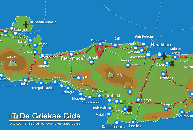 Map of Margarites