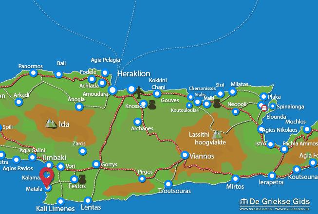 Map of Matala