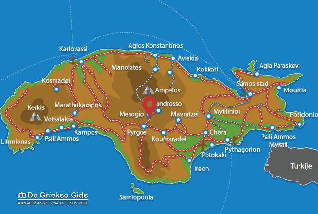 Map of Mesogio