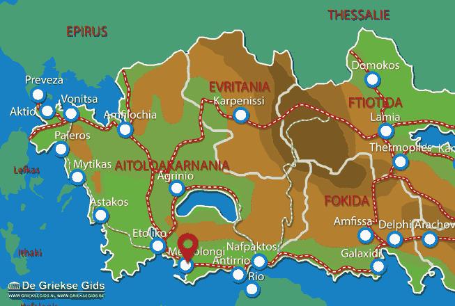 Map of Messolonghi