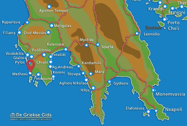 Map of Methoni