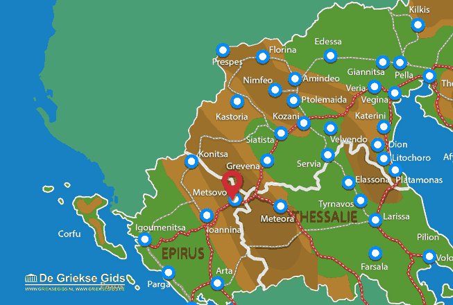 Map of Metsovo