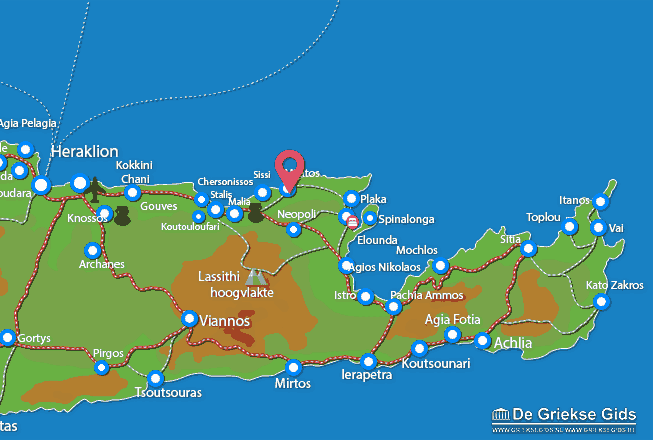 Map of Milatos