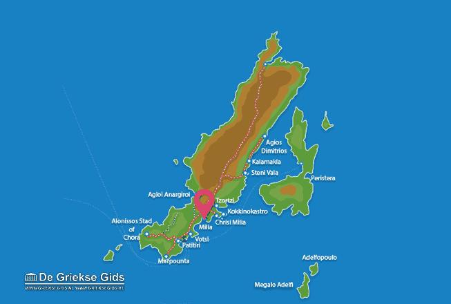 Map of Milia