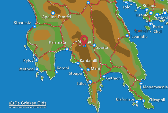 Map of Mystras