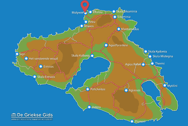 Map of Molyvos