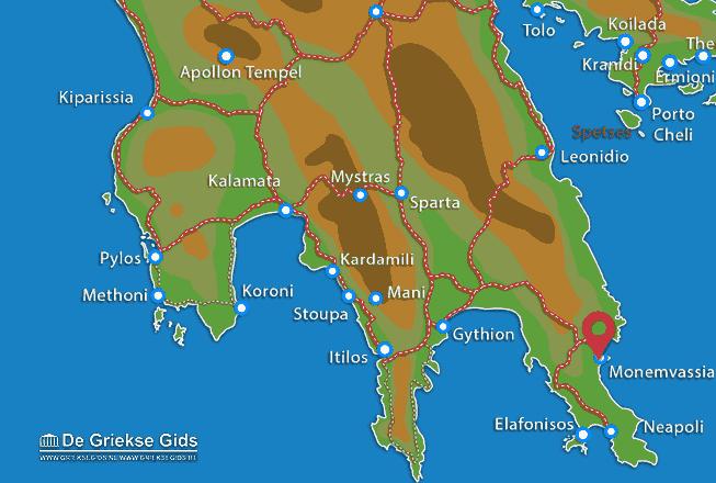 Map of Monemvasia