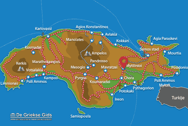 Map of Mytilinioi
