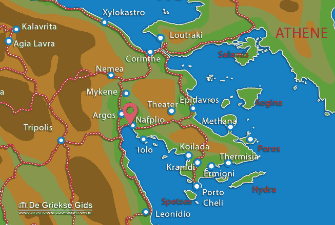 Map of Nafplion