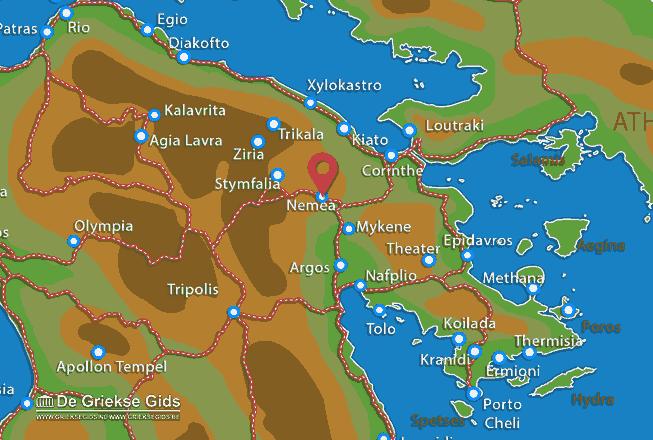 Map of Nemea