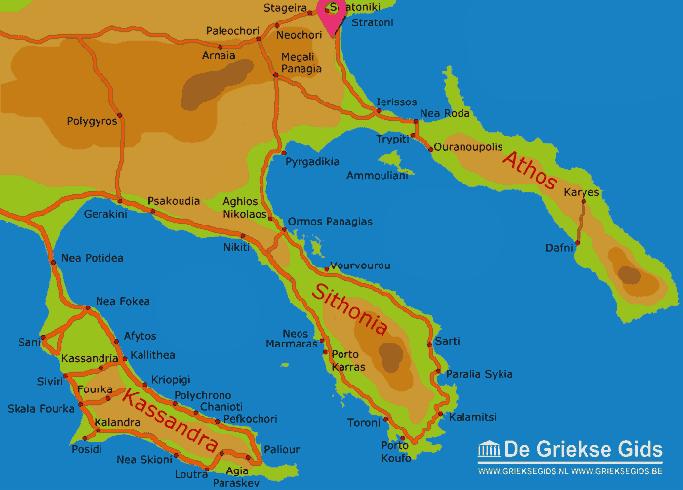 Map of Olympiada