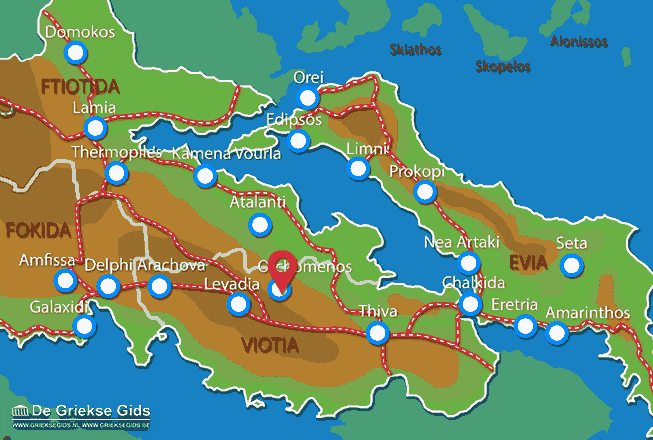 Map of Orchomenos