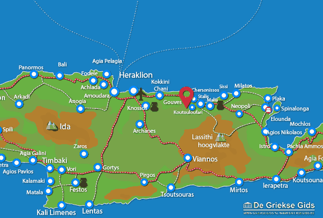 Map of Old-Hersonissos
