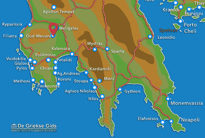 Map of Ancient Messini