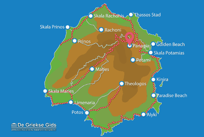 Map of Panagia