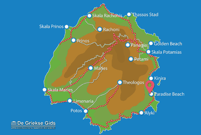 Map of Paradise Beach