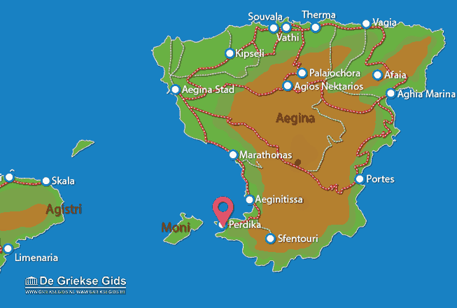 Map of Perdika