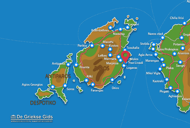 Map of Piso Livadi