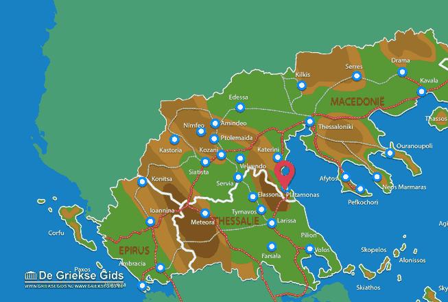 Map of Platamonas