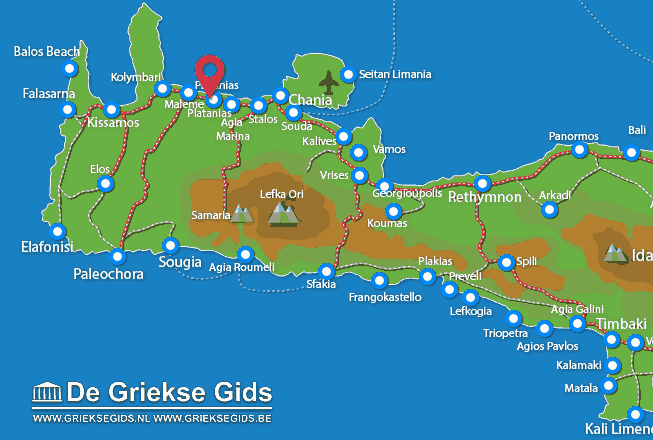 Map of Platanias
