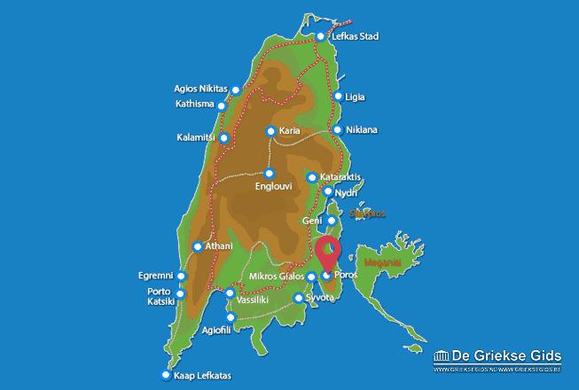 Map of Poros