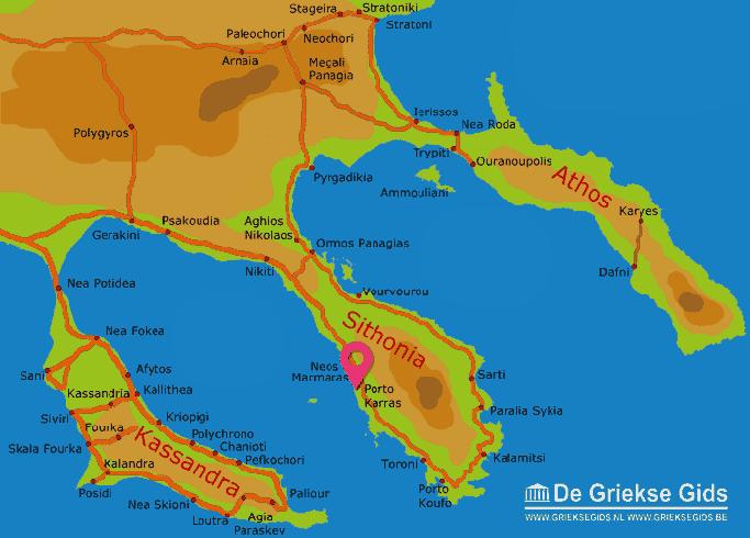 Map of Porto Karras
