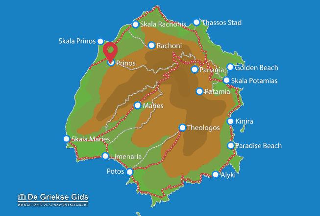 Map of Prinos