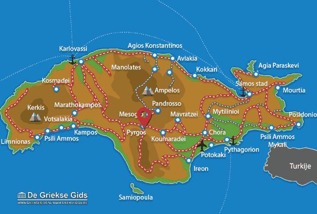 Map of Pyrgos