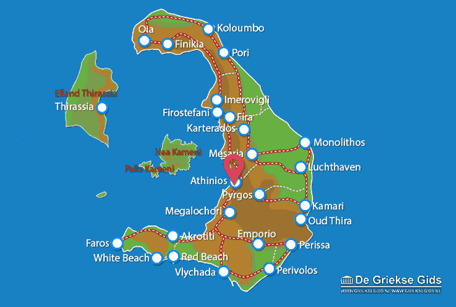 Map of Athinios