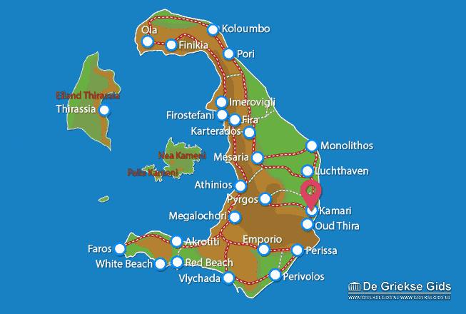 Map of Kamari