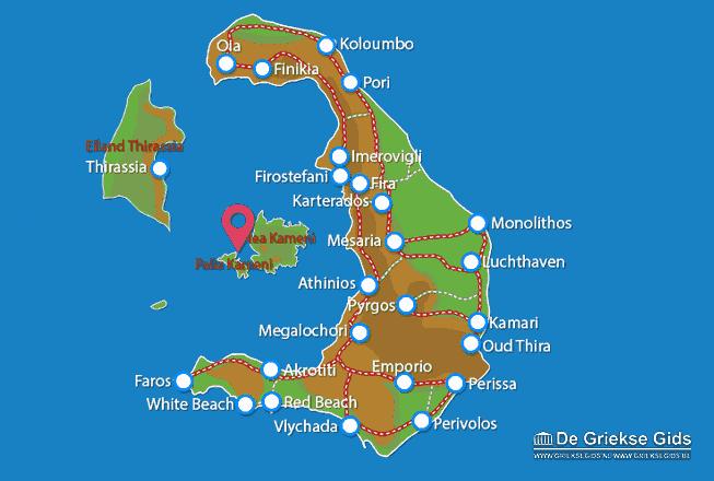 Map of Kameni