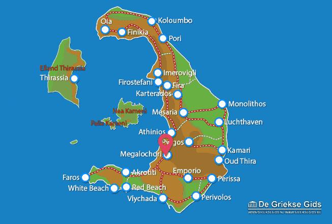 Map of Megalochori