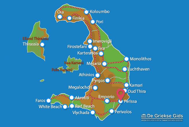 Map of Perissa