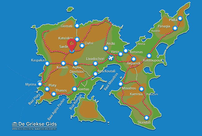Map of Sardes