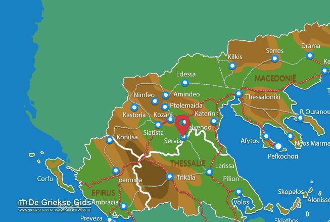 Map of Servia