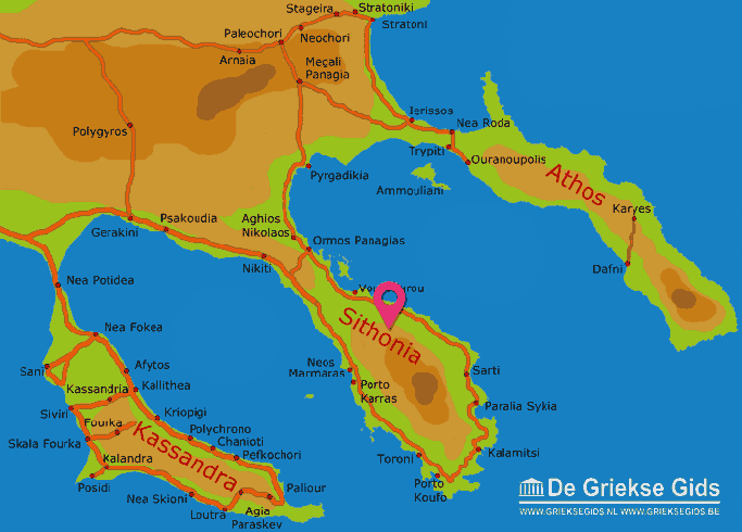 Map of Sithonia