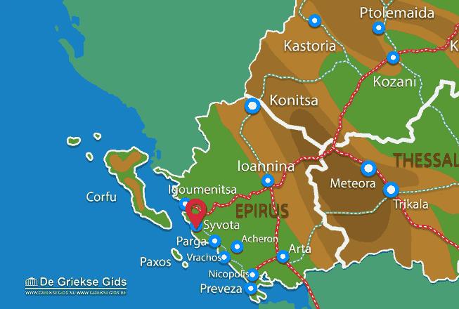 Map of Sivota