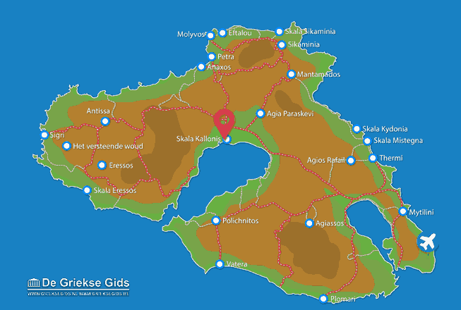 Map of Skala Kallonis