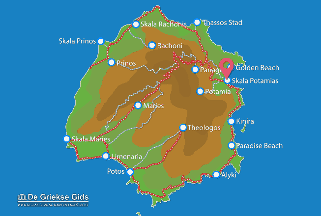 Map of Skala Potamias