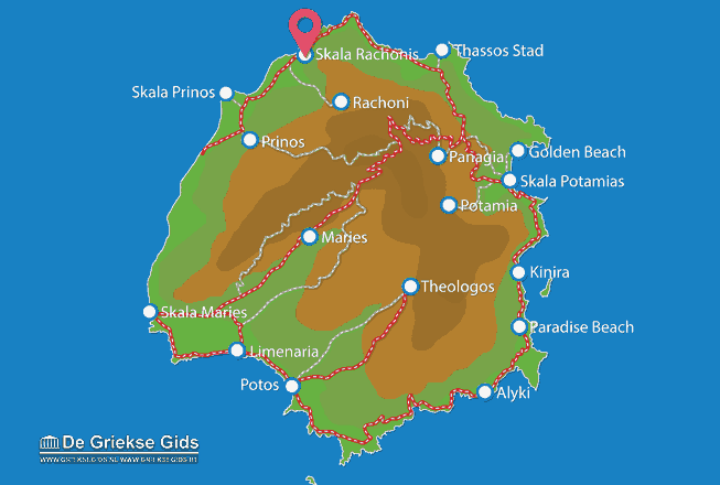 Map of Skala Rachonis