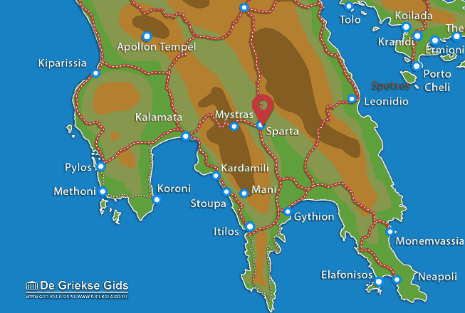 Map of Sparta