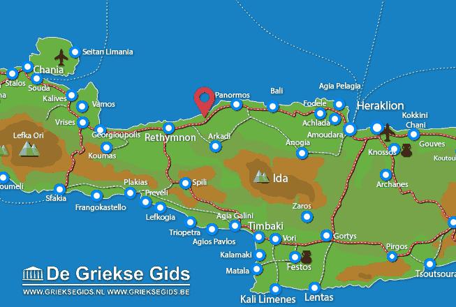 Map of Stavromenos