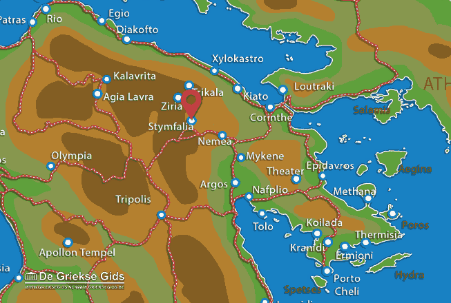 Map of Stymfalia