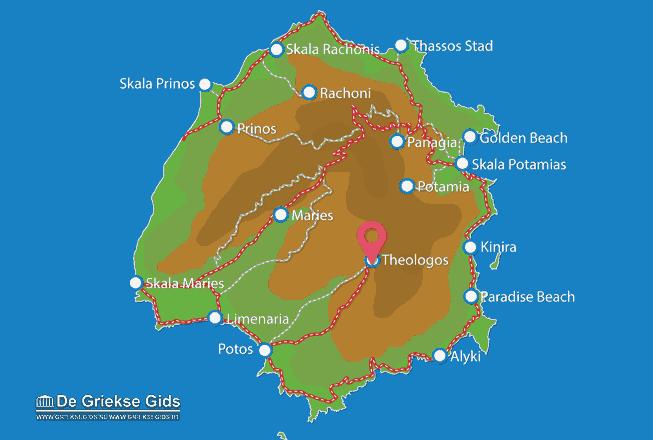 Map of Theologos