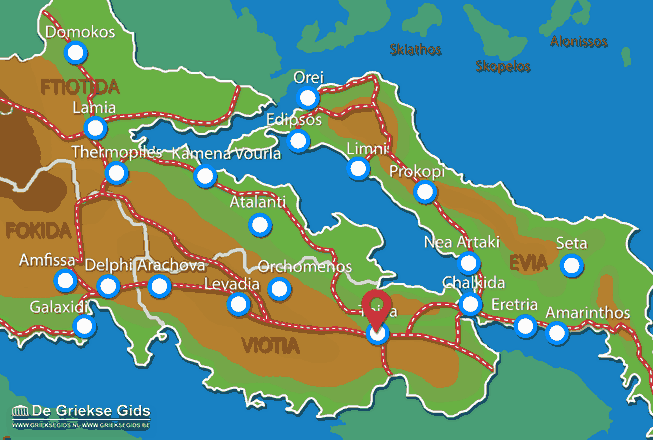 Map of Thiva
