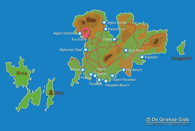 Map of Tourlos