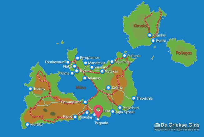 Map of Tsigrado