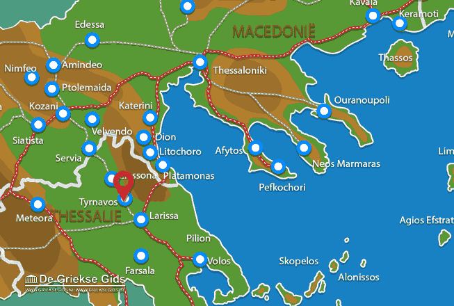Map of Tyrnavos
