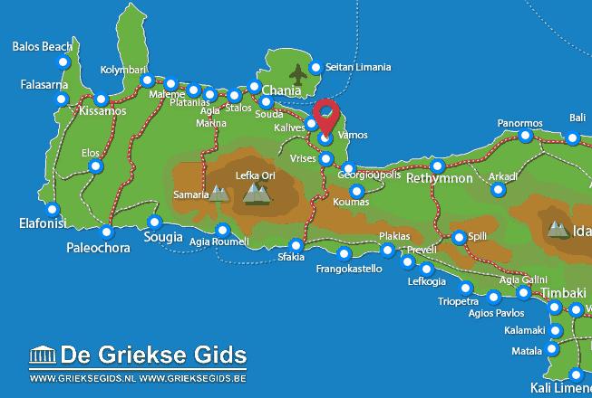 Map of Vamos